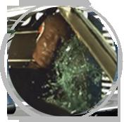 未贴膜,玻璃飞溅伤人
